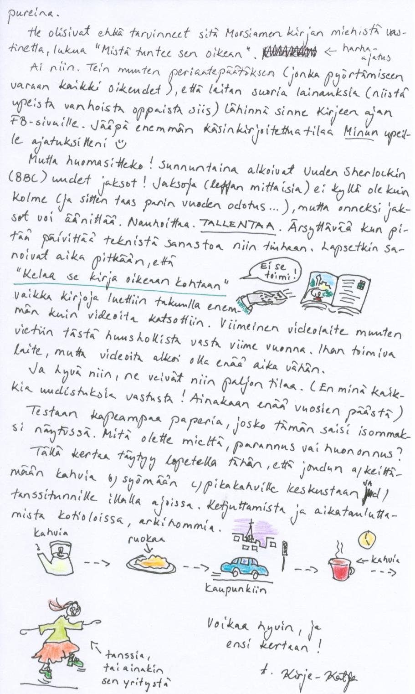 22.1.2014 päivätyn kirjeen toinen sivu