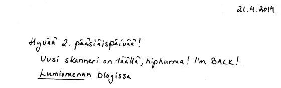 Kirje 21.4.2014 aloitus